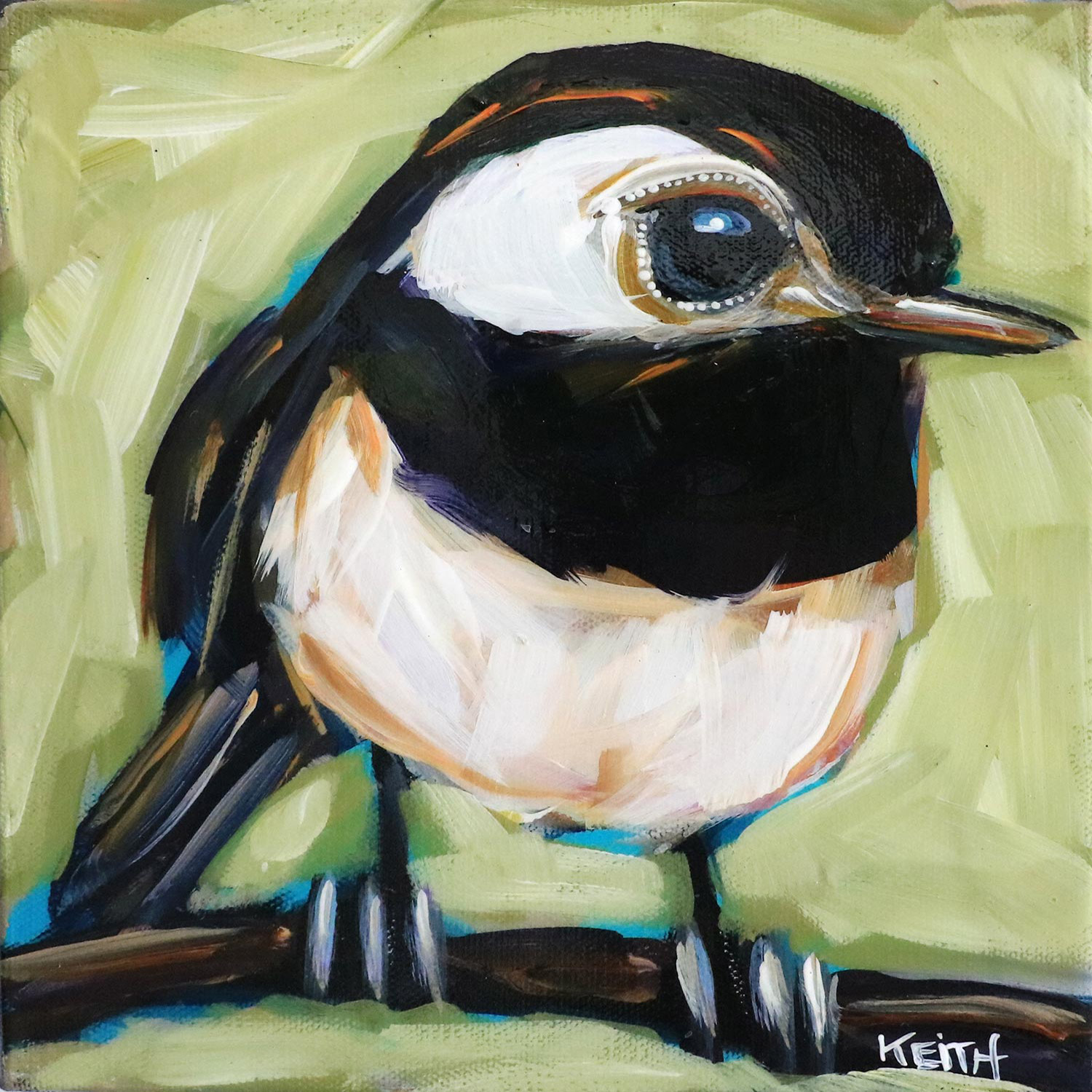kandice keith art brilliant birds Chubby Chickadee