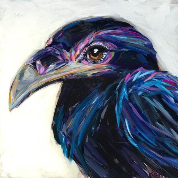 kandice keith art brilliant birds roberta raven 16x16 1