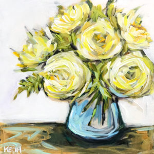 kandice keith art fantastic florals mellow yellow 10x10 1