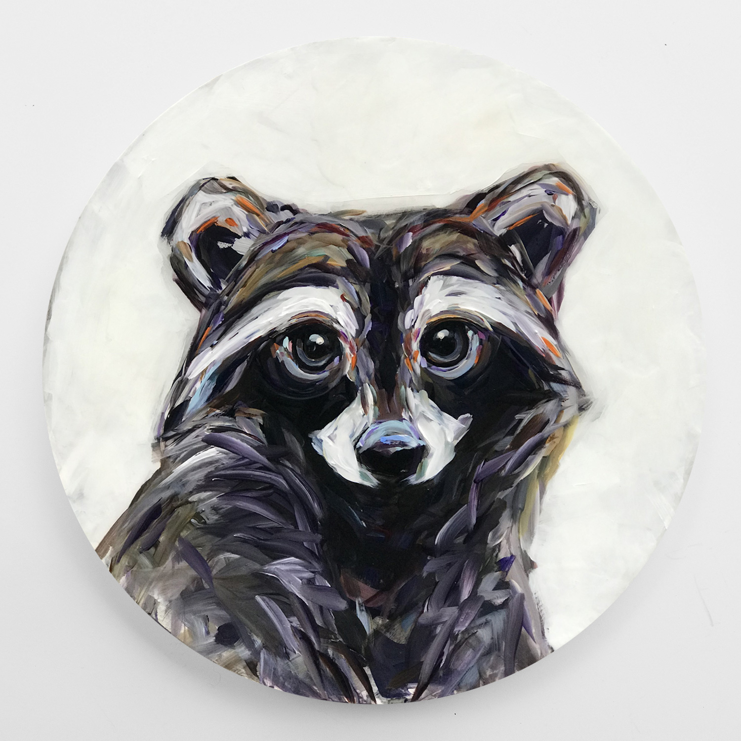 kandice keith art whimsical creatures racer racoon round 24