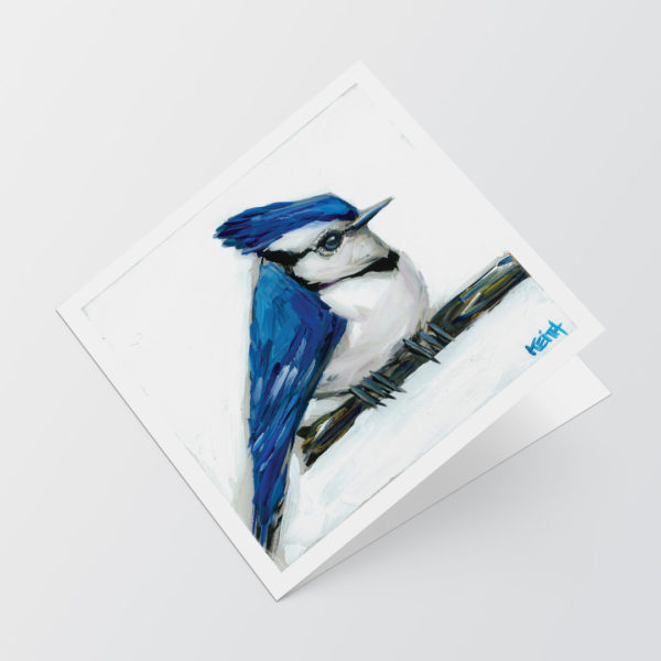 kandice keith art card 5x5 blue